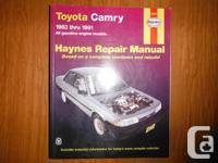 Toyota Camry Haynes Repair work Handbook covering all