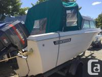 1983 17.5' Hourston Glascraft 150hp Mariner Sleeper