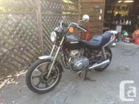 1983 Kawasaki kz 440 ltd belt drive. Was running but
