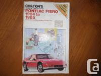 """""""Chilton's 1984 & & 1985 Pontiac Fiero Repair work And"""