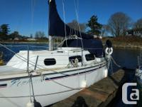 1984 Crown Sailboat, 28 foot with 9.9 Yamaha outboard