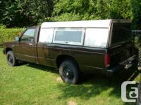 Selling 1984 Chevrolet S10 pick-up vehicle 4X4 5spd.