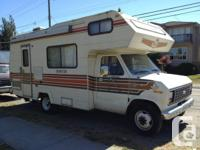 1984 Ford Frontier C-class 22' motorhome, 127kms