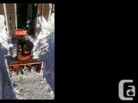 """I HAVE A 1984 8HP MASTERCRAFT 24"""" CUT SNOW BLOWER. THIS"""