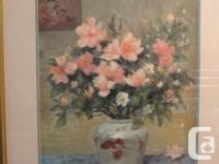 This is an 1984 oil painting called Bouquet d'azalees