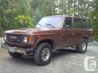 Make Toyota Model Land Cruiser Year 1984 Colour Bronze