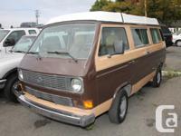 -1984 Volkswagen Westfalia Vanagon GL Camper Van