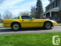 Make Chevrolet Model Corvette Year 1985 Colour Yellow