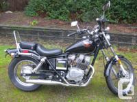 This 1985 Honda cmx 250 cc Rebel has 26.5 inch seat