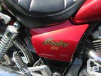 Make Honda Model Shadow Year 1985 kms 41175 For