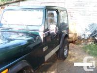 Make Jeep Year 1985 Colour green Trans Manual kms