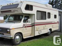 ONLY 64809 KM! Selling a 1986 F-350 motorhome, powered