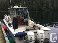 "1986 25' Grady White Sailfish, 9'6"" beam. Twin 2007"