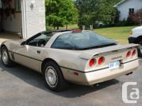 Make. Chevrolet. Design. Corvette. Year. 1986. Colour.