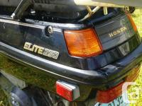 Make Honda Year 1986 kms 15905 1986 Honda Elite Motor