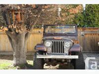 Jeep was restored in 2007, tj body and gator tub so no