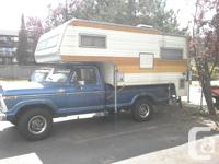 This camper is 10ft long and comes with a fridge,