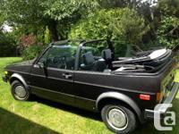 1986 Volkswagen Cabriolet Convertible. $2000 or ideal