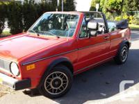 Make Volkswagen Model Cabriolet Year 1986 Colour Red
