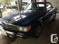 1987 Mercedes 560SL Convertible Roadster. 5.6 litre