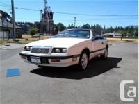 Make Chrysler Model LeBaron Year 1987 Colour White kms