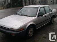 Make Honda Model Accord Year 1987 Colour Silver Trans