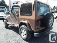 Make Jeep Model YJ Year 1987 Colour Brown kms 311844