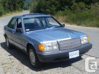 Make Mercedes-Benz Model 190E Year 1987 Colour Blue