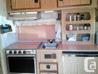 16 Ft, sleeps 6, stove, fridge, oven, microwave, couch,