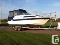 7.4 l mercruiser with Bravo 1 out drive. Every boot on