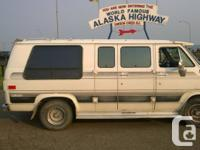 Nice and also well-maintained camper van with a/c, bed,