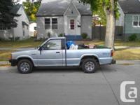 For sale:   1988 Mazda B2600 SR5 Pickup truck. Manual