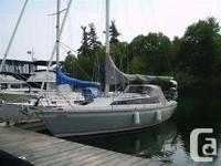This is an O'Day 32' sailboat. It has actually been