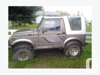The Suzuki Samurai is one of a kind. It makes the