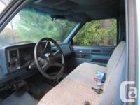 1989 chevy 3/4 ton, 5.7lt ,230km new brakes has a