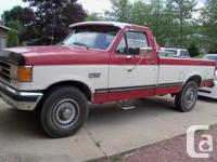 Marketing 1989 F250 as is. Original miles of 87,311. 8'