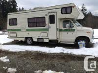 1989 25' class 'c' f350 motorhome 351 . This unit is,