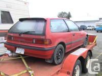 1989 Honda civic for parts or repair . Doesn't run /