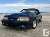 1989 Mustang GT convertable, auto, e-tested. Finished