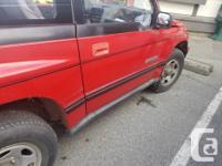 Make Chevrolet Model Tracker Year 1989 Colour Red kms