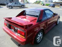 Make Toyota Model MR2 Year 1989 Colour red kms 175000
