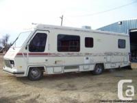 1989 Vanguard Motorhome 28-Ft Class-A Motorhome. Very