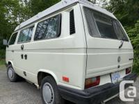 1989 VW Westfalia Vanagon Campervan in very nice shape.