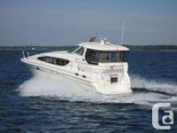 """""""LAKE EFFECT"""" is a freshwater 390 Motor yacht with the"""