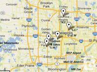 Pertaining to Minneapolis/St. Paul for shopping,