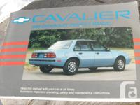 1990 Chevy Cavalier Owners Handbook in extremely good