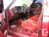 THIS IS A 1990 CHEVY SILVERADO Z71 ( BIG RED ) THIS IS