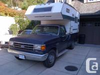 1990 FORD F250 3/4 TON 2X4.   WITH CAMPER GREAT FOR