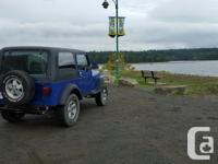 Make Jeep Model YJ Year 1990 Colour Blue kms 200000
