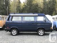 1990 VW Vanagon GL Westfalia Syncro, emerald blue on